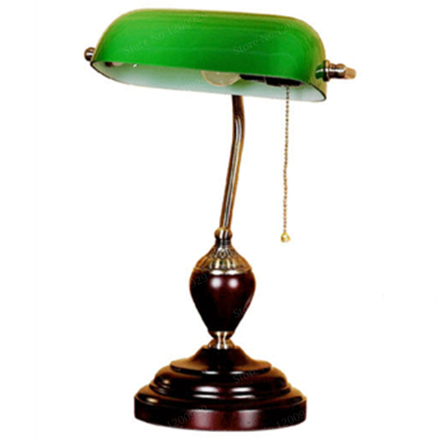 Bon Antique Living Room Study Room Retro Vintage Table Lamps Old Fashion Glass  Desk Lamp Reading Study