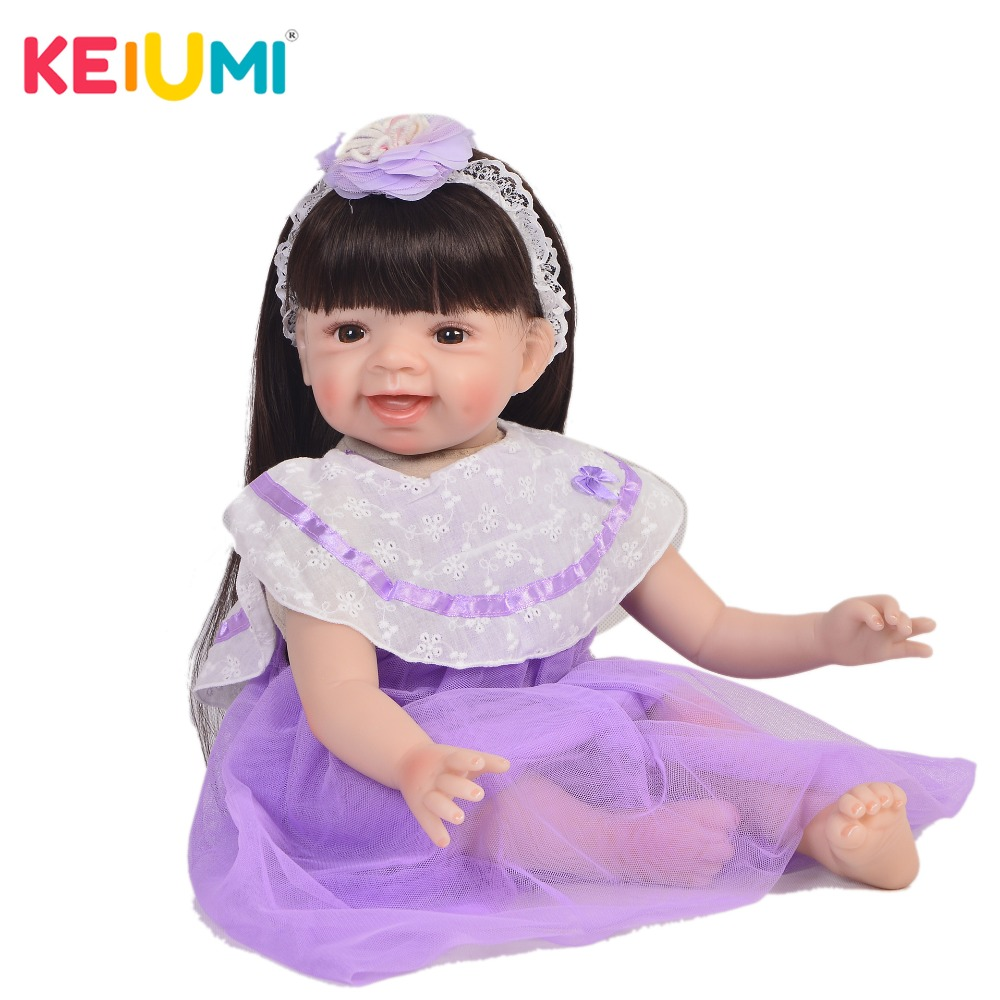 Lovely Reborn Alive Girl Doll Soft Vinyl 22 55cm Realistic Princess Baby Doll Toy For Kids Christmas Birthday Gifts Long HairLovely Reborn Alive Girl Doll Soft Vinyl 22 55cm Realistic Princess Baby Doll Toy For Kids Christmas Birthday Gifts Long Hair