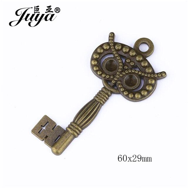 5 teile/los Mehrere Stile Zink-legierung Schlüssel Charms Anhänger 6 Arten Alte Schmuck Halskette DIY Machen Zubehör Erkenntnisse Handwerk