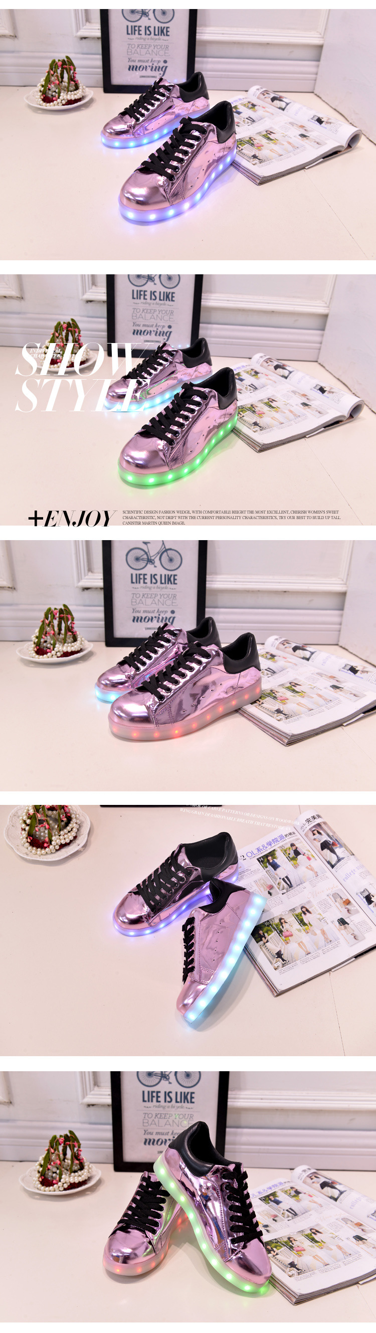 17 Baby Girls Boys LED Light Sneakers Colorful USB Charging for Kids Flashing Casual Flat students children Luminous Shoes 8