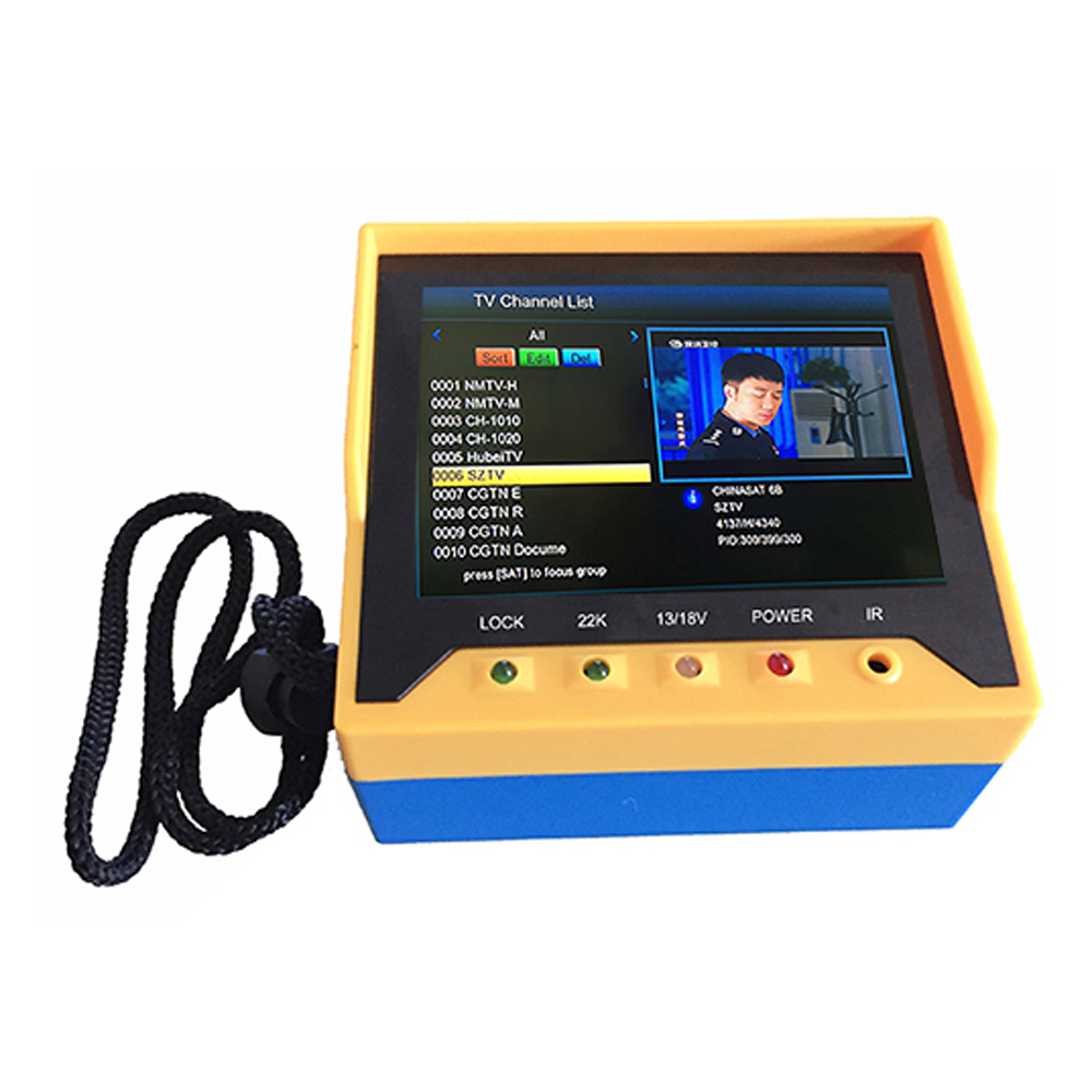 3.5 Inch Handheld Multifunctional DVB S/S2 Satellite Fast Tracking TV Receiver Finder Meter MPEG4 Modulator with Remote Control Instrument Parts & Accessories     - title=