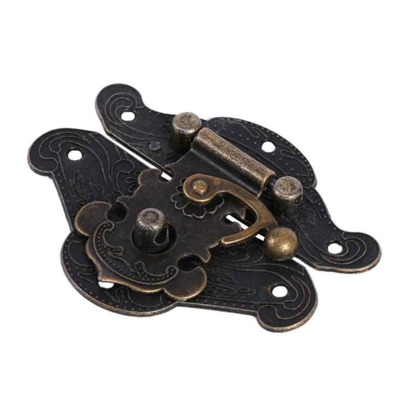 Antique Retro Vintage Decorative Latch Hasp Pad Chest Lock Plate For Wooden Jewelry Box Cabinet Accessories