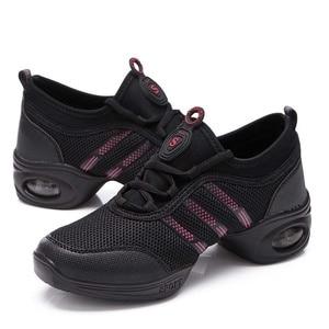 Image 3 - NANCY TINO Soft Outsole Breath Dance Shoes Women Sports Feature Dance Sneakers Jazz Hip Hop Shoes Woman Professional Dance Shoes