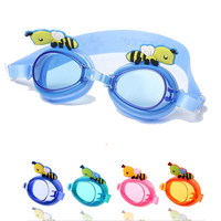 Fashion Outdoor Water Sports Swimming Coating Bee Eyeglasses Diving Glasses Goggles Swimwear For Children With Clear