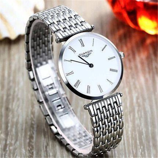 neos brand genuine watch men s stainless steel straps simple business fashion waterproof quartz fashion men s watch Watch Men Top Luxury Brand GUANQIN Fashion Casual Business Waterproof  Stainless Steel Watchband Quartz-watch Relogio Masculino