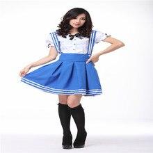 Japonés marinero cosplay uniforme escolar para las niñas lolita dress navy marinero trajes para mujeres anime maid cosplay costume cs15145