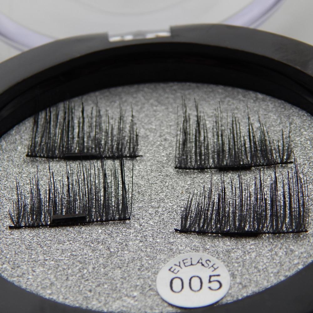 Shozy 4 Pcs/Pair Convenient Magnetic Fake Eyelashes Extention Eye Beauty Makeup Accessories Soft Hair False Eyelashes-ECT005