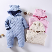 Baby rompers clothes winter thick warm baby boys clothes girls clothes long sleeves baby clothing hooded jumpsuit baby overalls