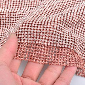 Image 5 - JUNAO 45*120 CM Glitter CLEAR Silver Rhinestone ตาข่ายผ้าคริสตัลริบบิ้น Glass Strass Applique เย็บโลหะตัดสำหรับชุด