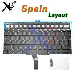 """Для A1370 A1465 SP испанская клавиатура/Подсветка подсветкой + 100 шт Клавиатура винты для MacBook Air 11,6 """"A1370 A1465"""