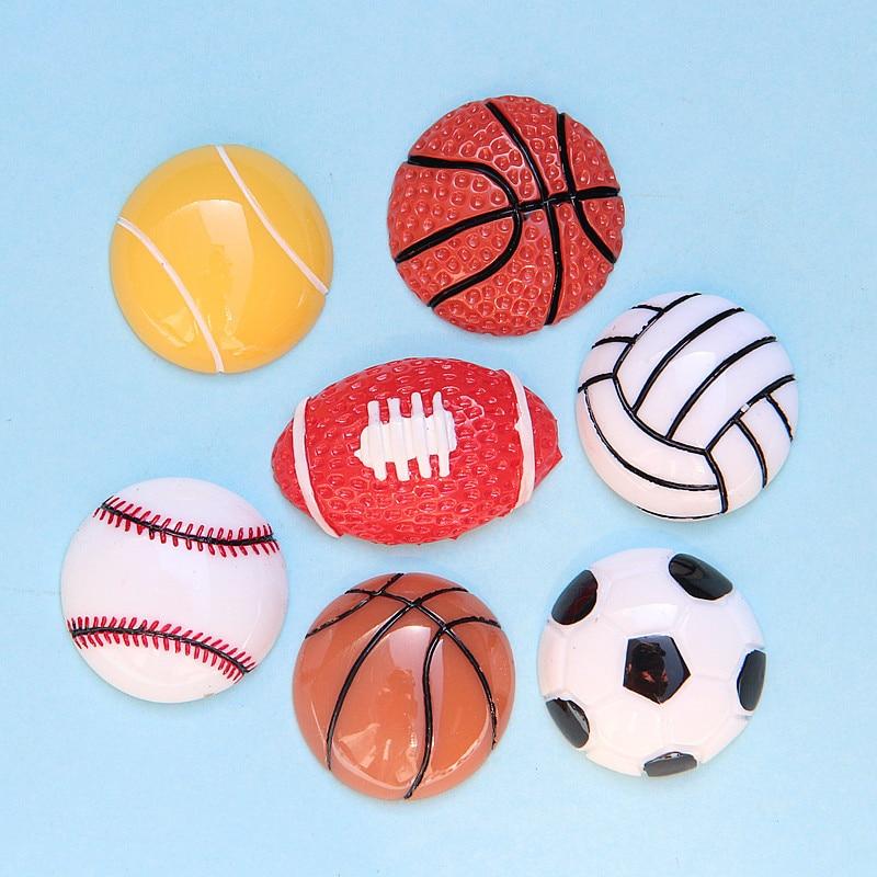 Friendly Rs006(10), Flat-back Resin Football/basketball/rugby/softball Diy Beads Craft Scrapbook Cabochon Lucky Bag Diy Phone Case Beauty