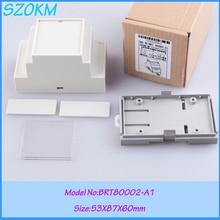 5 pcs/lot free shipping enclosure for din rail plastic electrical din rail box din rail mount 53 x87x60 mm