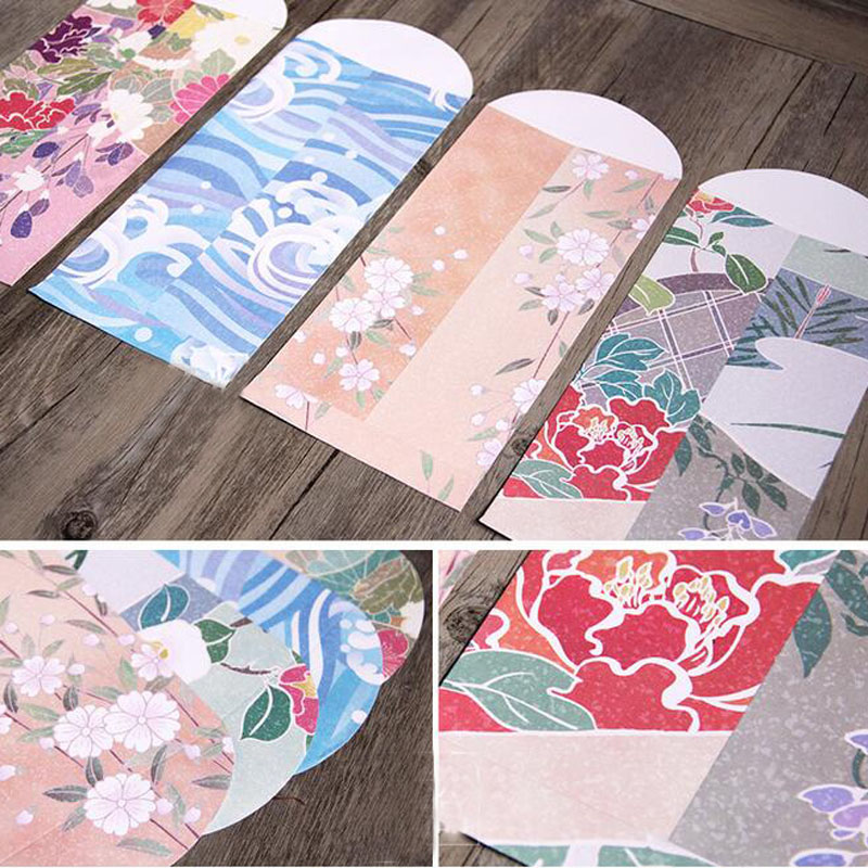 50pcs/lot Japanese Style And Painted Envelopes For Card Wedding ...