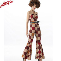 FREE SHIPPING Women Gender And Retro Disco Dance Costumes Sexy Cowgirl Costume Hippy Romper Clown Carnival