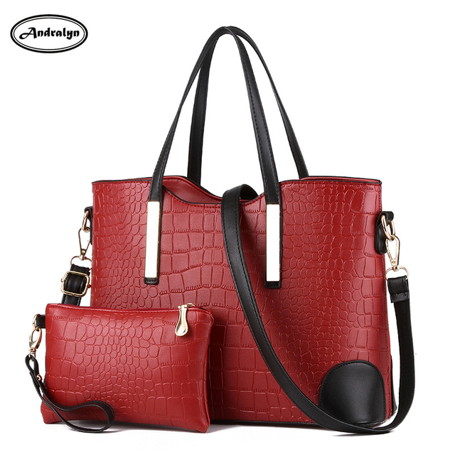 cfd8f5edf35 Nieuwe schoudertassen handtas mode krokodil patroon vrouwelijke sectie  moeder grote zak hand diagonaal kruis tas beroemde