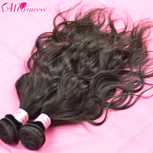 O-free shipping factory wholesale price 2pcs / lots Brazilian water wave hair extensions , 12″ to 30″ are in stock