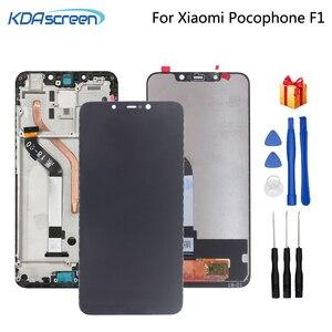 Image 1 - מקורי לxiaomi Pocophone F1 LCD תצוגת מסך מגע Digitizer חלקי טלפון POCO F1 מסך LCD תצוגת החלפת כלי