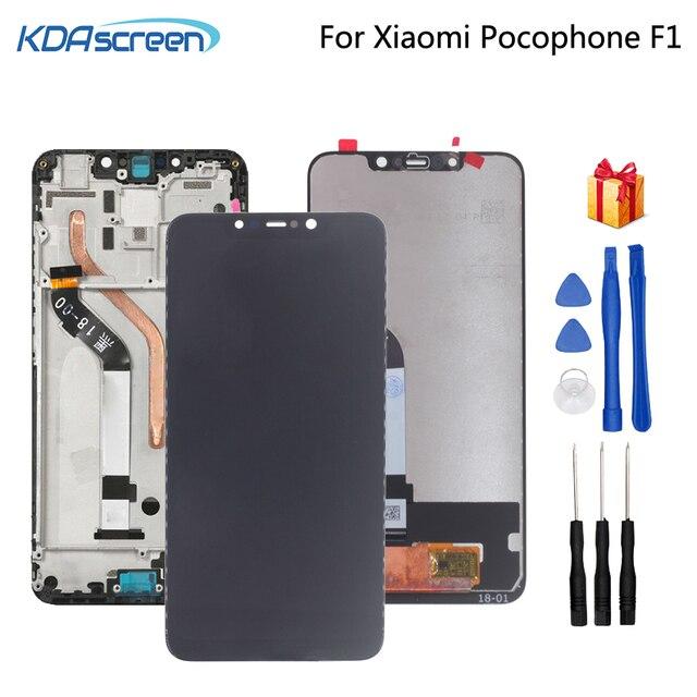 מקורי לxiaomi Pocophone F1 LCD תצוגת מסך מגע Digitizer חלקי טלפון POCO F1 מסך LCD תצוגת החלפת כלי