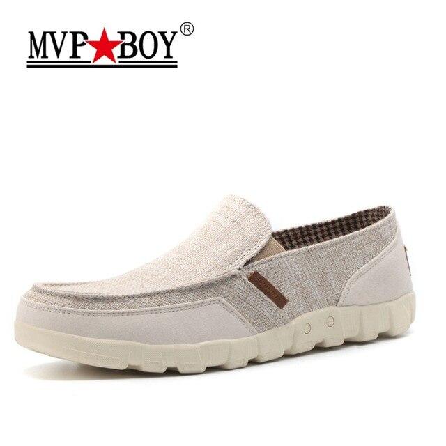 b2179888fb00 MVP BOY 2018 Classic White Canvas Shoes Men Fashion Solid Comfortable Men  Canvas Shoes Summer Slip On Shoes Men Plus Size 38-46