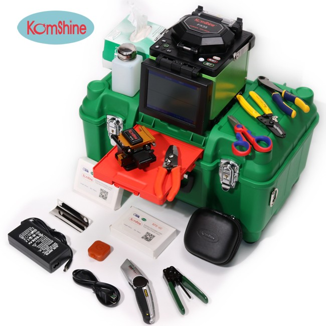 Fiber Optic Fusion Splicing Machine Komshine FX35 Same as Fsm70s, Can Splice 250um, 900um, Jump Cable and Drop Cable