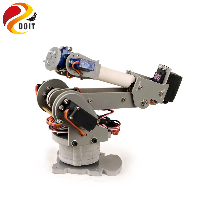 Original DOIT 6 DoF Robotic Arm Model Motor Servo CNC All Metal Robot Arm Structure Servos Industrial Robot DIY RC Toy UNO jx pdi 5521mg 20kg high torque metal gear digital servo for rc model