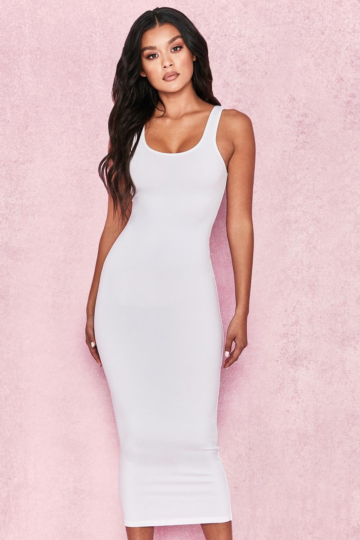 Colysmo 2 Layers Women Bodycon Dress Cotton Summer Dress Sexy Club Wear Midi Dress Autumn Tunic Basic Long Dress White Vestido Women's Clothing