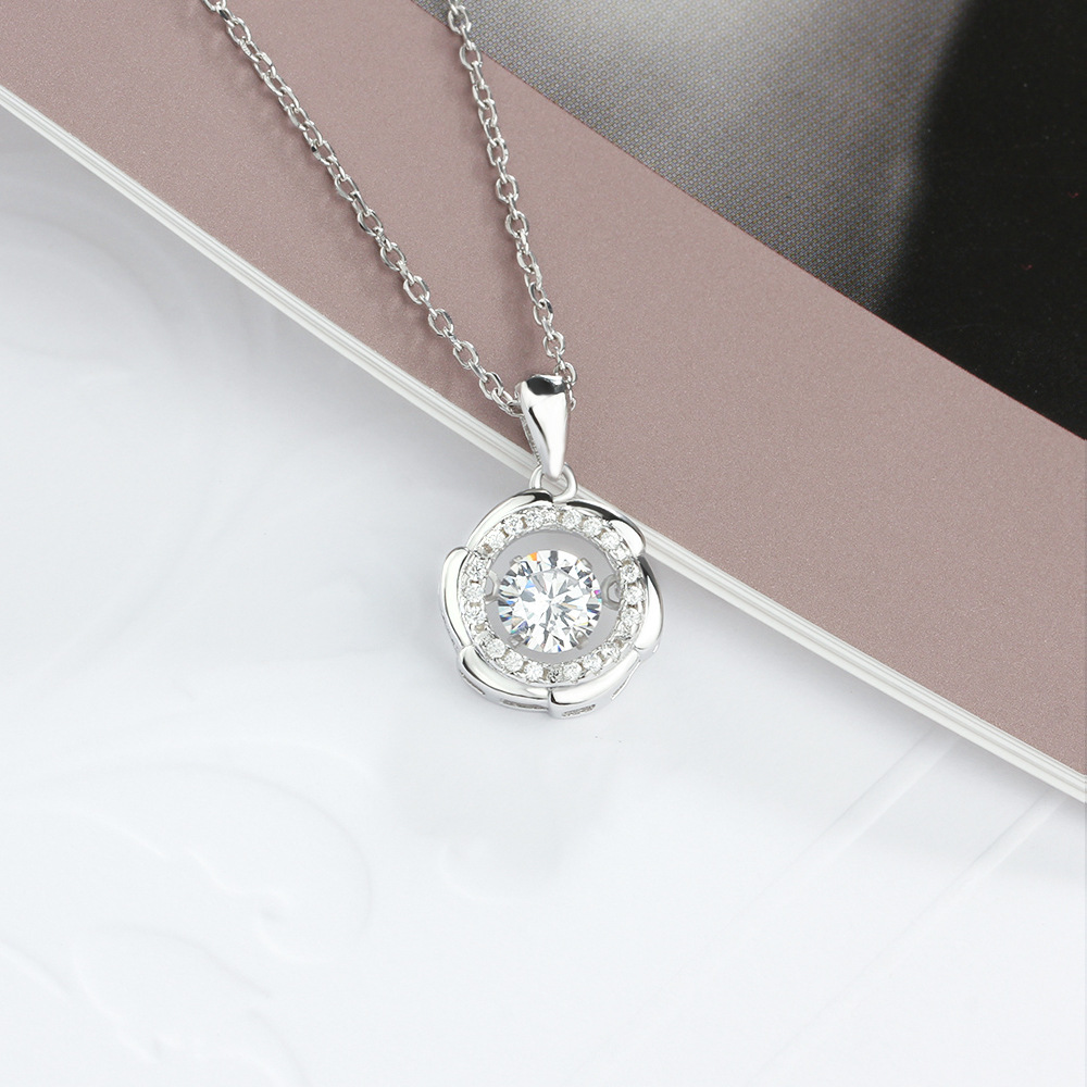 YSP14 women fine jewelry,super shiny heronsbill pendant,925 sterling silver necklace for delicate lady ying vahine 925 sterling silver jewelry shiny stars pendant necklace