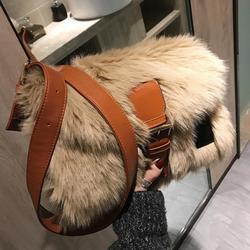 2019 inverno moda nova doce menina quadrado saco de alta qualidade macio pelúcia designer bolsa ombro ocasional bolsa mensageiro