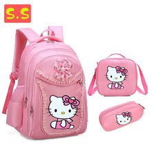 ab252c96a5 Hello Kitty Girl s School Bags Cartoon Pattern Kid Backpack Children School  Backpack Girl Bag(China