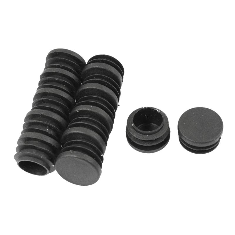 28mm Dia Round Plastic Blanking End Cap Pipe Tubing Tube Insert 12 Pcs