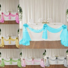 1,35*5 м органза изящная ткань органза Swags настольная юбка Свадебная вечеринка стул Decora