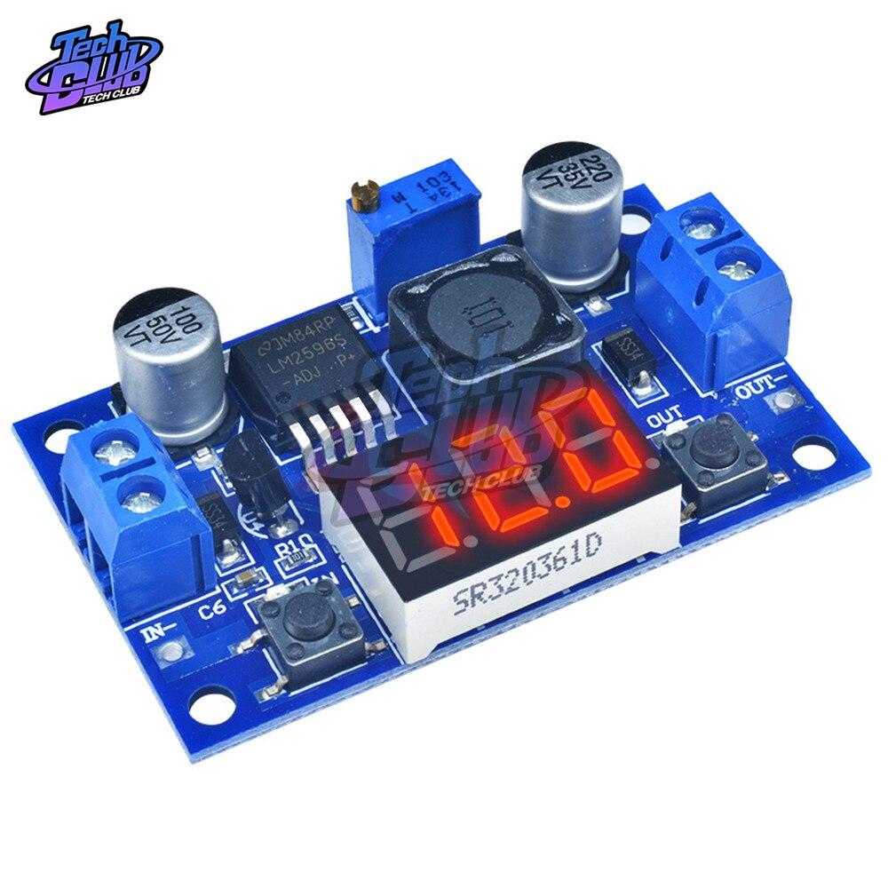 101.73руб. 12% СКИДКА|DC DC понижающий модуль LM2596 DC/DC 4,0 ~ 40V до 1,25 37 V Регулируемый регулятор напряжения со светодиодным вольтметром|Регуляторы напряж./стабилизаторы| |  - AliExpress
