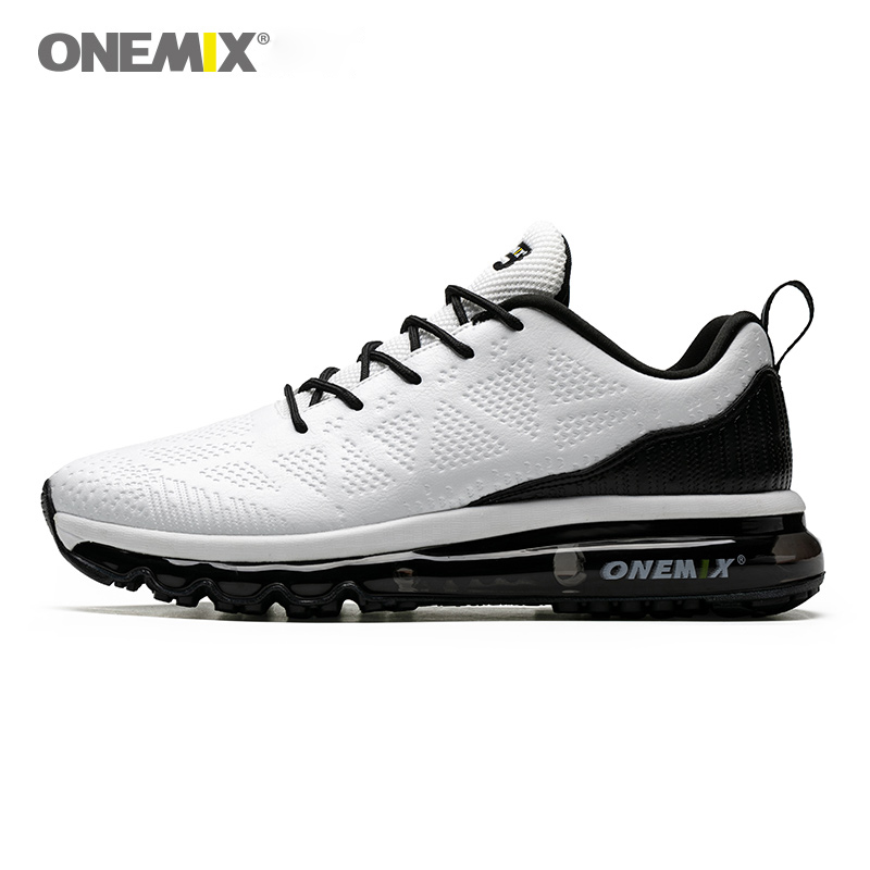 ONEMIX White Men Running Shoes Athletic Trainers Sports Outdoor Walking Sneakers Damping Zapatillas Hombre Male Trail Athletic