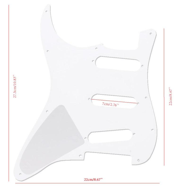 Белый 3 слоя Электрогитары накладку к царапинам пластины для Fender Stratocaster pickguards Гитары Запчасти Аксессуары для гитары ...