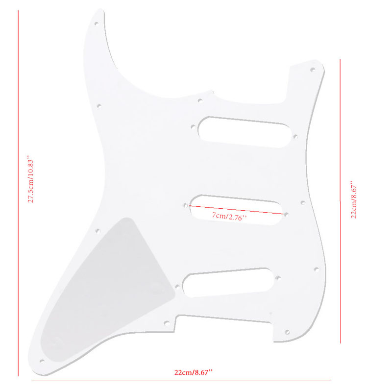 White 3 Ply Electric Guitar Pickguard Scratch Plate For Fender Stratocaster Pickguards Guitar Parts Guitar Accessories