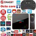 R CAIXA de TV Pro Android 6.0 Caixa De TV Amlogic S912 Octa Núcleo Android 6.0 3G 16G 2G 16G 2.4G/5G WIFI 3D/4 K Smart TV CAIXA PK H96 pro X92