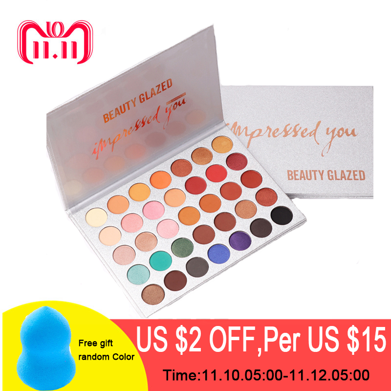 Beauty Glazed 35Color Eyeshadow Palette Glitter Makeup Matte Eye Shadow Long-lasting Make Up Palette Maquillage Paleta De Sombra