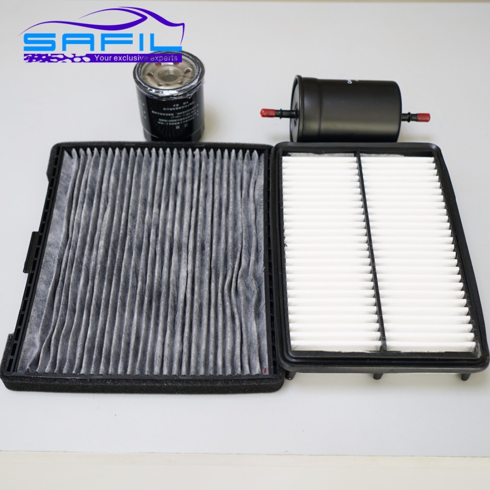 air filter +cabin air condition filter + fuel + Oil filter for JAC J6 J5 heyue