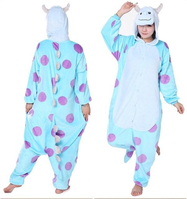 New Adult Monsters University Mike Wazowski  sully Costume Onesie Pyjamas  Cosplay Green eb4d850ea