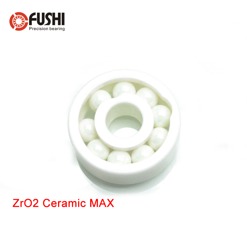 608 MAX Full Ceramic Bearing ZrO2 1PC 8*22*7 mm Full Balls 608 CE Ceramic Ball Bearings 608CE free shipping 697 619 7 7x17x5 mm full zro2 ceramic ball bearing