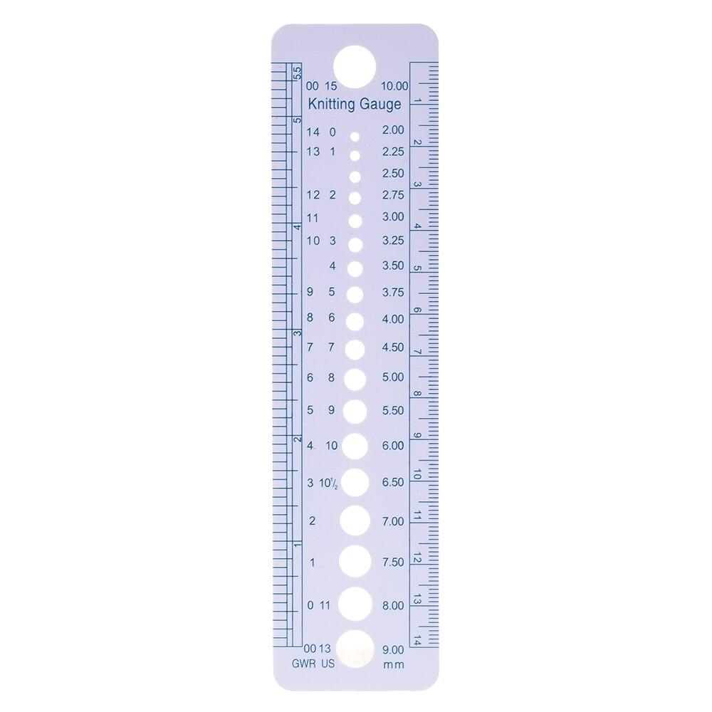 1PC Knitting Needle Gauge Inch Cm Ruler Tool US UK Canada