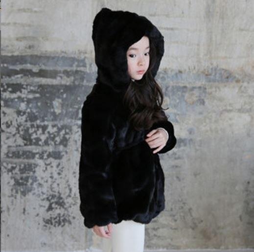 036141c21 Aliexpress.com   Buy Furry Girls Faux Fur Coat Winter Hooded Warm ...