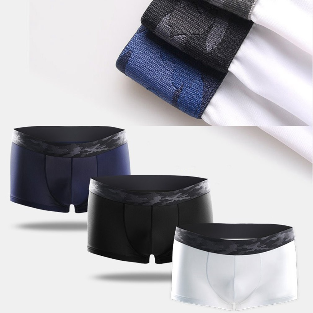 High Quality Breathable Elastic Men Underpants Soft Pure Natural Nylon Panties Brief Male Underwear Boxer Lingerie in Boxers from Novelty Special Use