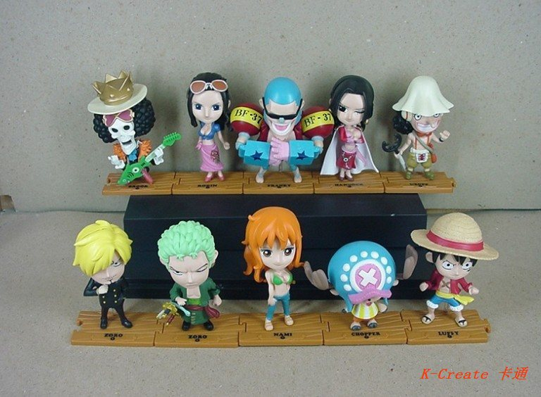 ФОТО Free shipping 10pcs Anime One piece 68generation Brook Robin Zoro Luffy Nami Franky pvc figure doll tall 10cm.10pcs cartoon doll