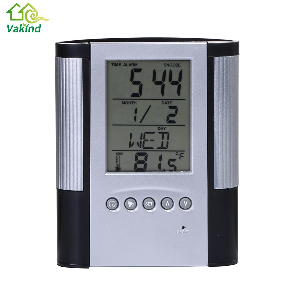 Calendar Clock Wallpaper For Desktop : The latest modern lcd display digital alarm clock multi function electronic with calendar