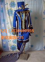 Black Butler Ciel Fhantomhive blue knight anime Cosplay Costume for Women 3 in1 shirt+coat+ short pants