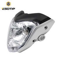 ZSDTRP 4 Colors 12V Motorcycle Head Light Headlamp Comp with Lamp Case for Yamaha FZ 16 Racing Motor