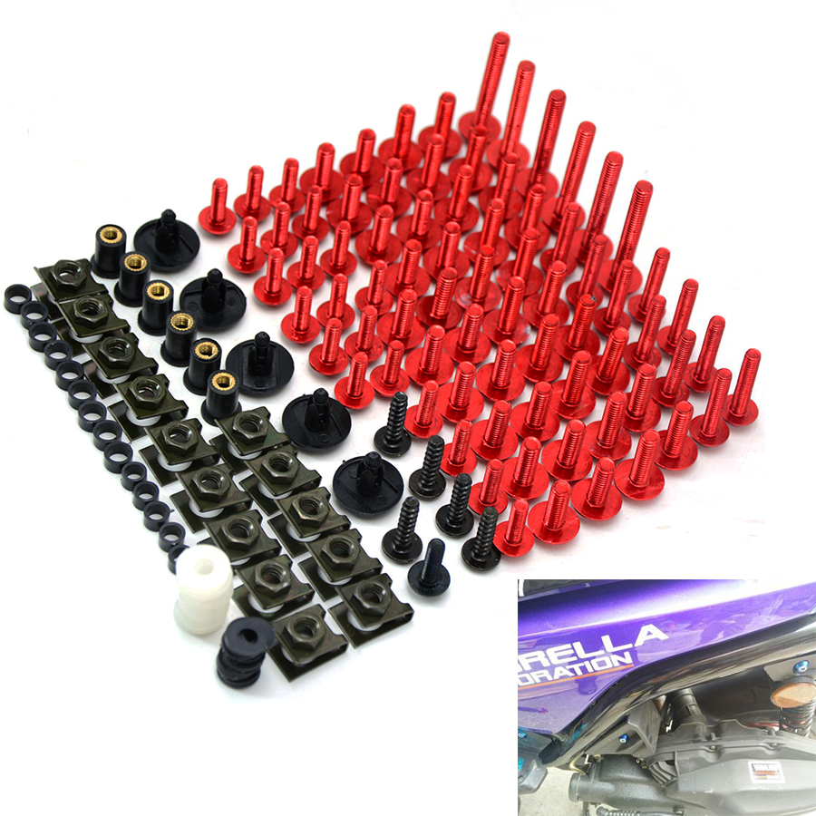 Universal accessories Motorcycle Screws Vehi Bolts Vehicle screw For SUZUKI GSF 600 Bandit S-X tmax 530 500 MT-01 MT-07 ABS MT-0 530 120 brand new unibear motorcycle drive chain 530 gold o ring chain 120 links for suzuki gsf 650 s bandit drive belts