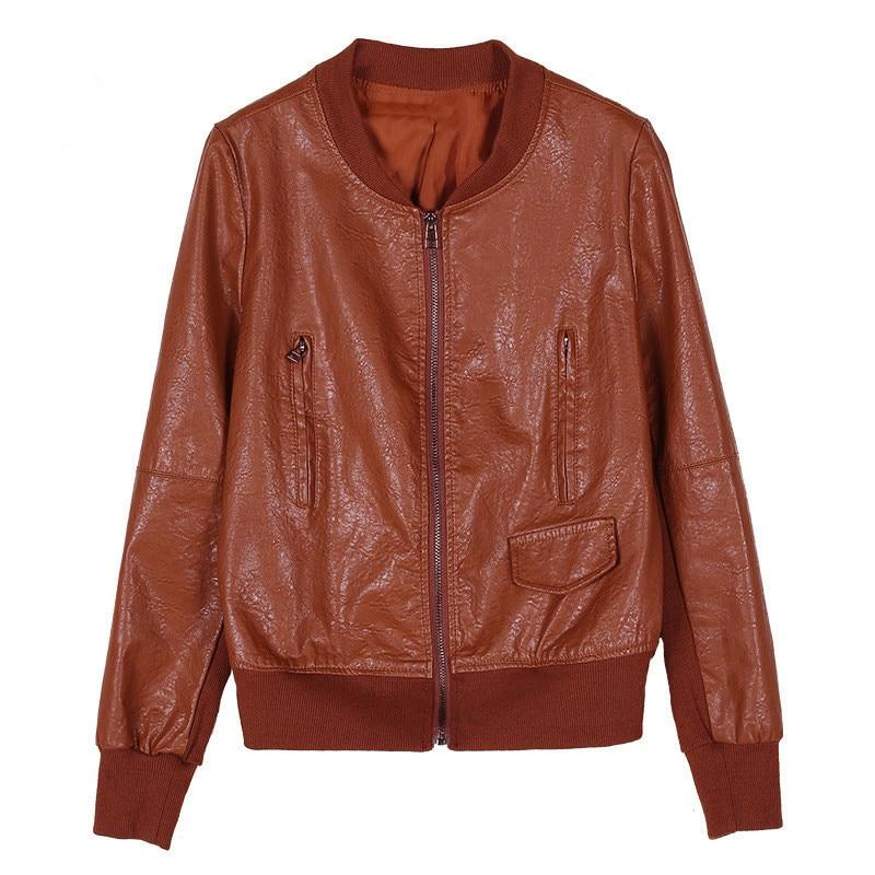 Trendmarkierung Frühling Herbst Kurze Jacken Für Frauen 2019 Pu Leder Oberbekleidung Plus Größe Student Casual Top Dünne Weibliche Kurze Mäntel Re2267 Haus & Garten