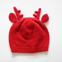 Рождество Санта олень Стиль вязаные шапки оленьего рога уха шерсть ткань шапки Дети Наряжаться Аксессуары HX312